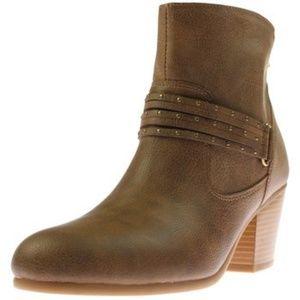 Aerosoles Longevity Leather Taupe Boot 8M - New